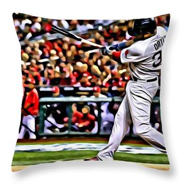 David Ortiz Painting Throw Pillow
