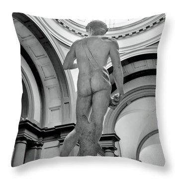 David.black White  Throw Pillow by Jennie Breeze