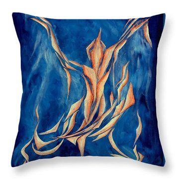 David's Angel Throw Pillow
