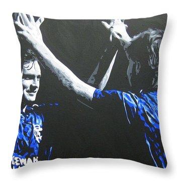 Davie Cooper - Ally Mccoist - Glasgow Rangers Fc Throw Pillow