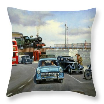 Dawlish Summer. Throw Pillow by Mike  Jeffries
