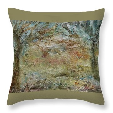 Throw Pillow featuring the painting Dawn 2 by Mary Wolf