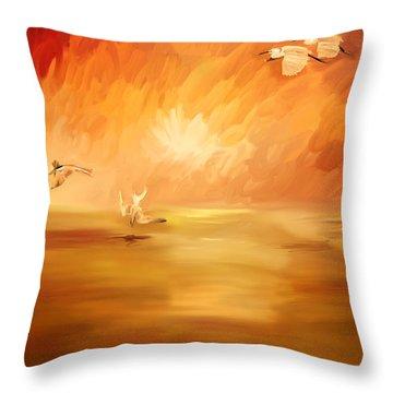 Dawn Throw Pillow by Angela A Stanton