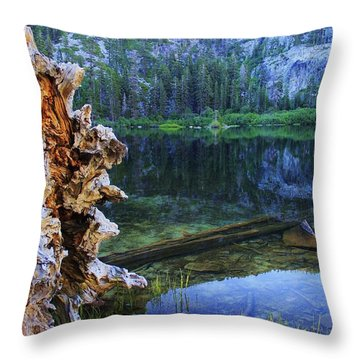 Throw Pillow featuring the photograph Dawn Arrives At Eagle Lake by Sean Sarsfield