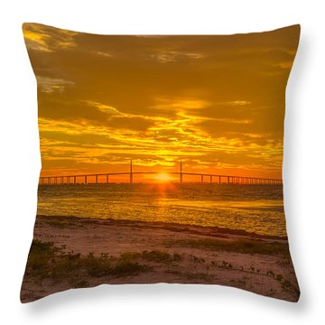 Dawn Arrives Throw Pillow by Jane Luxton