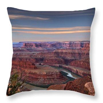 Dawn At Dead Horse Point Throw Pillow
