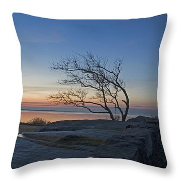 Dawn At Fort Phoenix Throw Pillow
