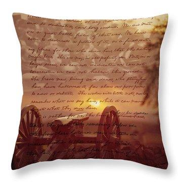 Dawn At Gettysburg Throw Pillow