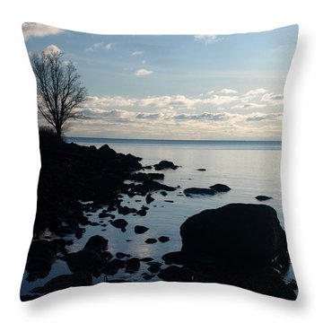 Throw Pillow featuring the photograph Dawn At The Cove by James Peterson