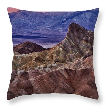 Throw Pillow featuring the photograph Dawn At Zabriskie Point by Jerry Fornarotto