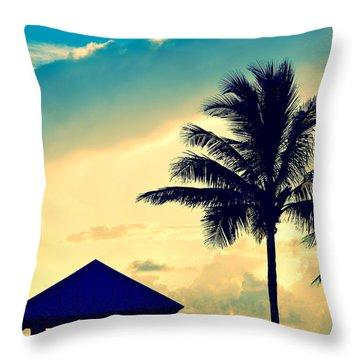 Dawn Beach Pyramid Throw Pillow