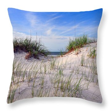 Dawn Dunes Throw Pillow