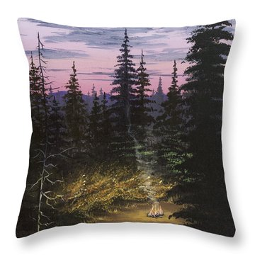 Dawn Fire Throw Pillow