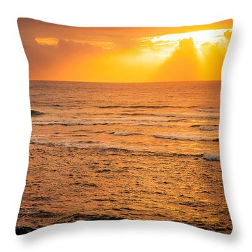 Dawn Fisherman Throw Pillow
