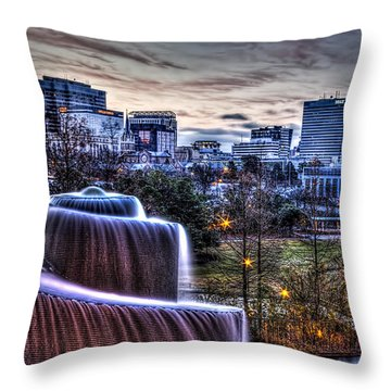 Dawn In Columbia Throw Pillow
