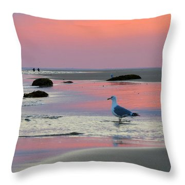 Dawn In Pink Throw Pillow by Dianne Cowen