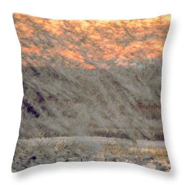Dawn Liftoff Throw Pillow by Steven Ralser