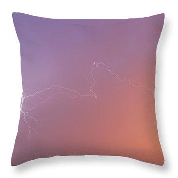 Dawn Lightning Throw Pillow