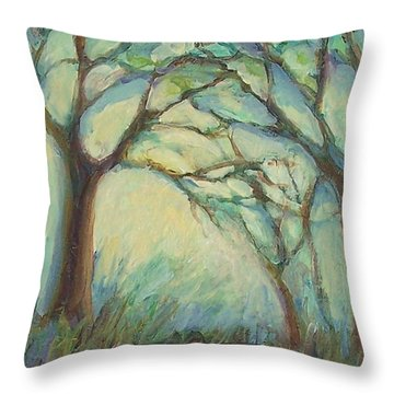 Dawn Throw Pillow by Mary Wolf
