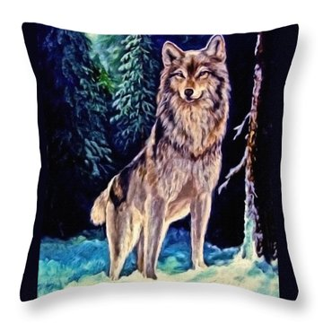 Throw Pillow featuring the painting Dawn Of A New Day Original Painting Forsale by  Nadine Johnston