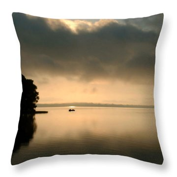Dawn Of A New Day Throw Pillow by Peg Urban