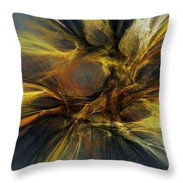 Throw Pillow featuring the digital art Dawn Of Enlightment by David Lane