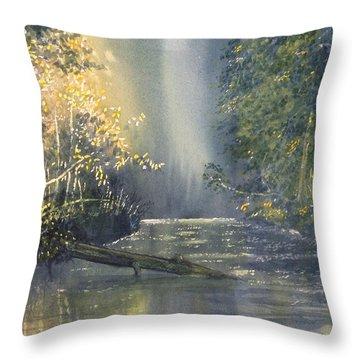 Dawn On The Derwent Throw Pillow