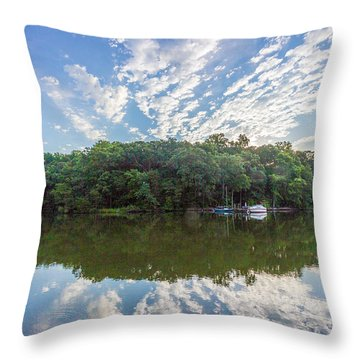 Dawn On The Magothy River Throw Pillow