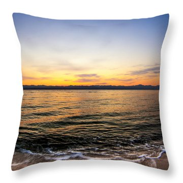 Dawn Over The Red Sea Throw Pillow by Mark E Tisdale