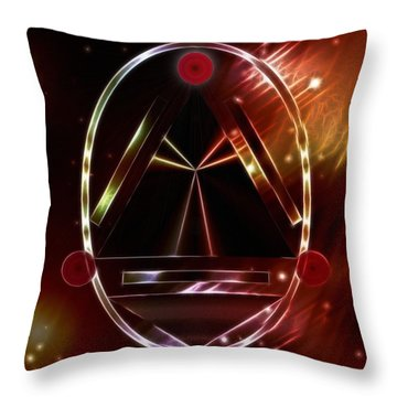 Throw Pillow featuring the digital art Dawning Of A New World Order by Mario Carini