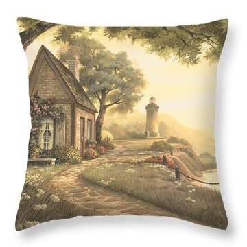 Dawn's Early Light Throw Pillow by Michael Humphries