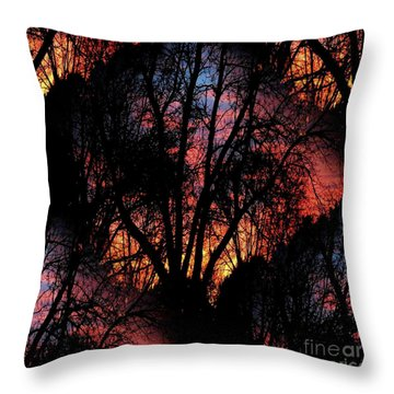 Sunrise - Dawn's Early Light Throw Pillow by Luther Fine Art