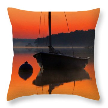 Dawn's Light Throw Pillow by Dianne Cowen