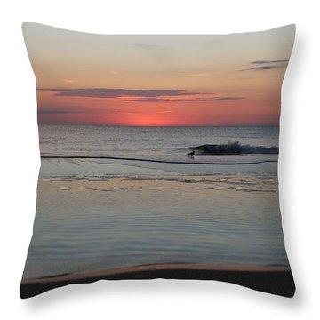 Throw Pillow featuring the photograph Dawn's Light by Robert Banach