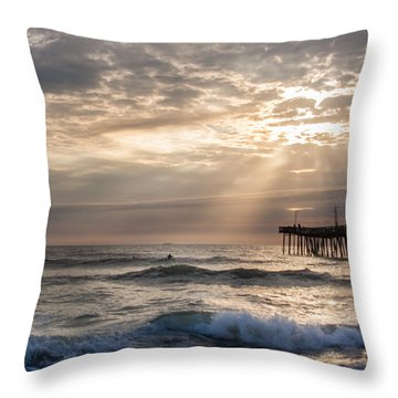 Dawns Ocean Rays Throw Pillow