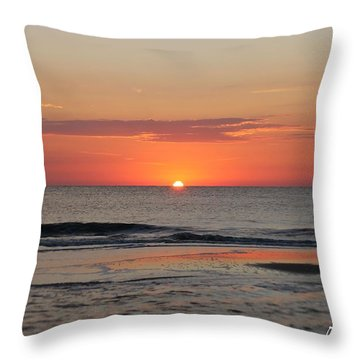 Throw Pillow featuring the photograph Dawn's Waves by Robert Banach