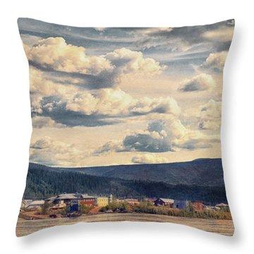 Dawson City Throw Pillow by Priska Wettstein