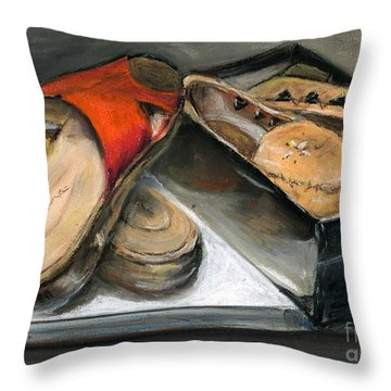 Shoes With Outouts Throw Pillow