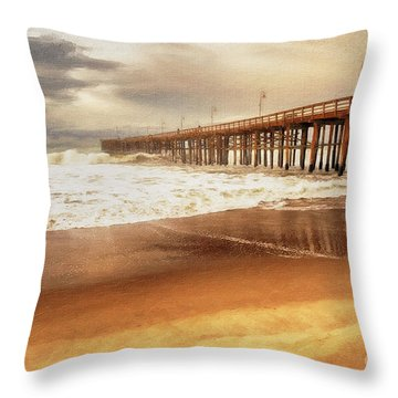 Day At The Pier Large Canvas Art, Canvas Print, Large Art, Large Wall Decor, Home Decor, Photograph Throw Pillow