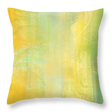 Day Bliss - Abstract Art Throw Pillow