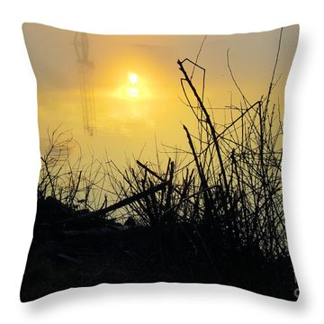 Throw Pillow featuring the photograph Daybreak by Robyn King