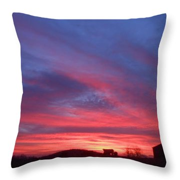 Day Dawning Throw Pillow by Diannah Lynch