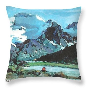Day In The Wilderness Throw Pillow by Joseph Barani