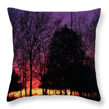 Day Is Done Throw Pillow by Lorri Crossno