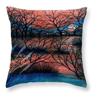 Day Is Done October Sky Throw Pillow