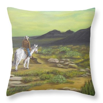 Day Is Done Throw Pillow by Sheri Keith