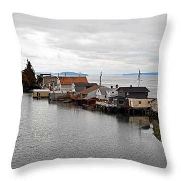Day Island Bridge View 1 Throw Pillow by Anthony Baatz