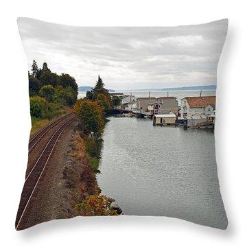 Day Island Bridge View 2 Throw Pillow