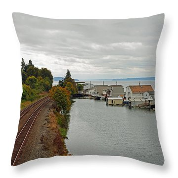 Day Island Bridge View 3 Throw Pillow