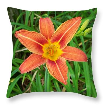 Day Lilly Throw Pillow by Kenneth Cole